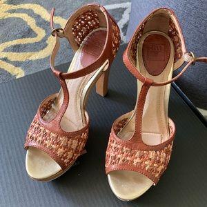 Frye platform heels